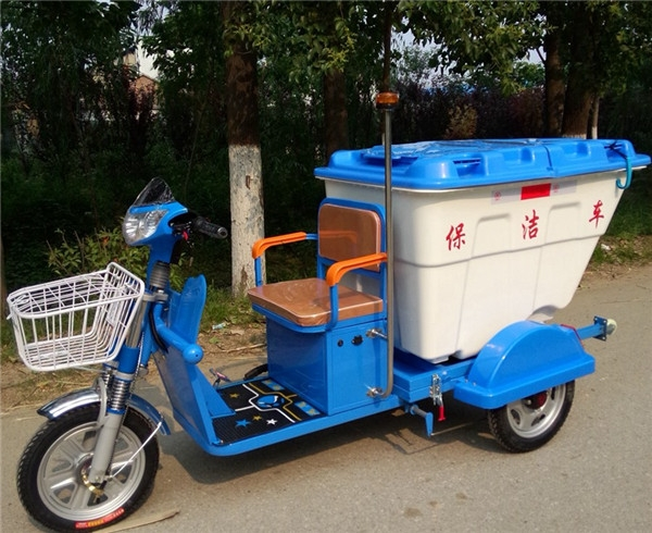 电动三轮保洁车DG3500B500L塑料桶